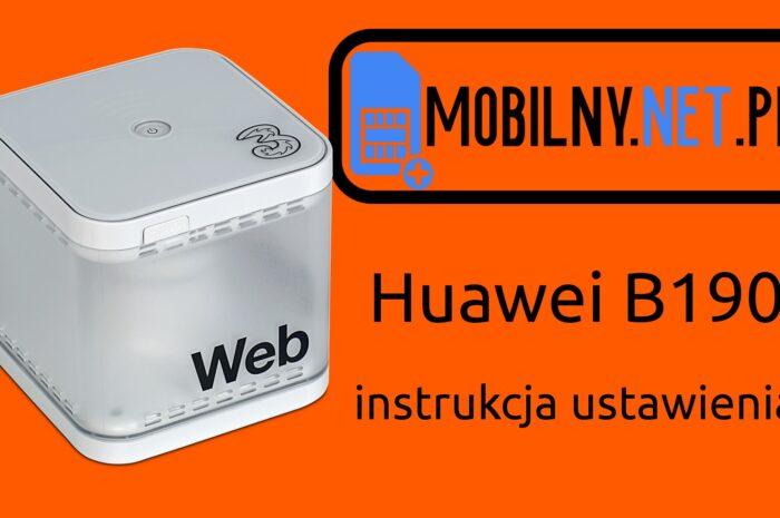 Huawei B190 – instrukcja wideo (YouTube)